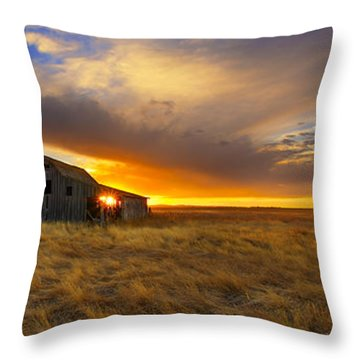 The Low Clouds Throw Pillow
