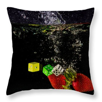The Lucky 7 Splash Throw Pillow by Rene Triay Photography