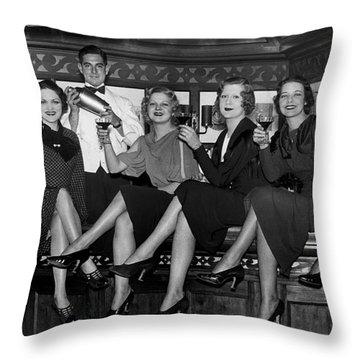 The Lucky Bartender Throw Pillow by Jon Neidert