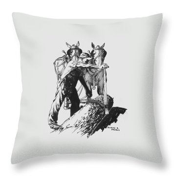 The Lumberjack Throw Pillow