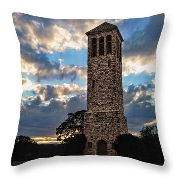 The Luray Singing Tower Throw Pillow by Lara Ellis