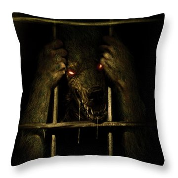 The Lycan Throw Pillow by Jeremy Martinson