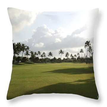 The Lyford Cay Club 18th Hole Throw Pillow
