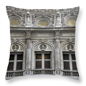 The Lyric Theatre In New York Throw Pillow