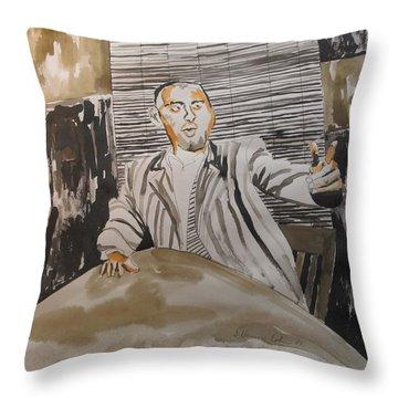 The Macher Throw Pillow by Esther Newman-Cohen