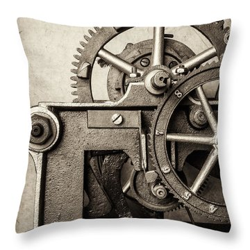 The Machine Throw Pillow by Martin Bergsma