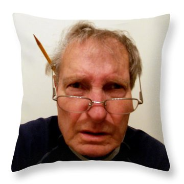 The Mad Photo Editor Throw Pillow by Skip Willits