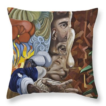 The Mad Sculptor Throw Pillow