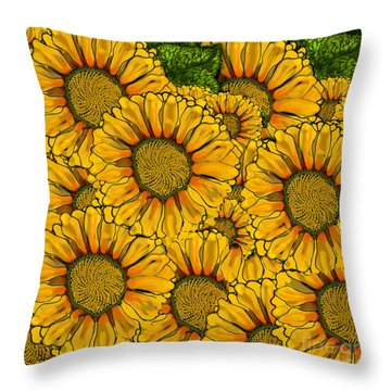 The Madding Crowd Throw Pillow by Carol Jacobs