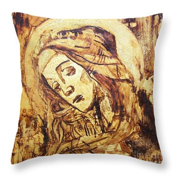The Madonna Of Medjugorje,  Throw Pillow