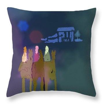 Throw Pillow featuring the digital art The Magi by Arline Wagner