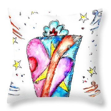 The Magic Box Throw Pillow