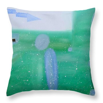 Throw Pillow featuring the painting The Magic Nature by Min Zou