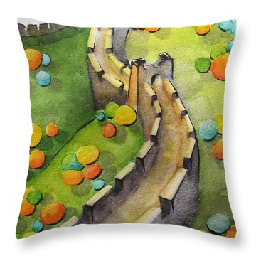 The Magical Great Wall Throw Pillow
