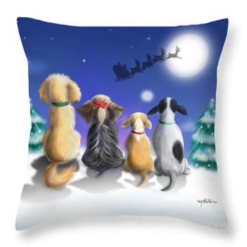 The Magical Night Throw Pillow