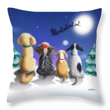 The Magical Night Throw Pillow