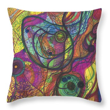 The Magnificence Of God Throw Pillow by Daina White