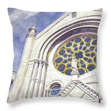 The Magnificent Sacred Heart Throw Pillow by Roxanne Tobaison