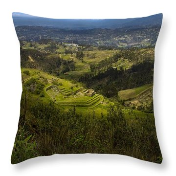 The Magnificent View From Cojitambo Throw Pillow by Al Bourassa