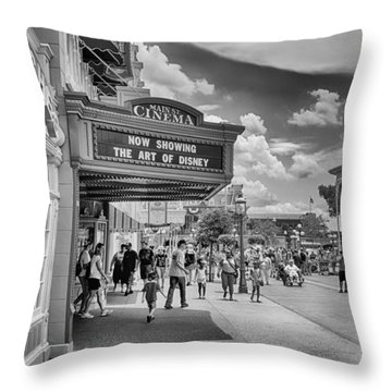 Throw Pillow featuring the photograph The Main Street Cinema by Howard Salmon