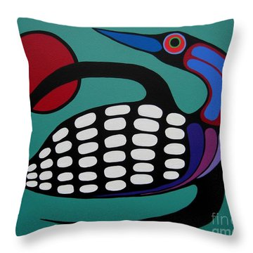 The Majestic Loon Throw Pillow