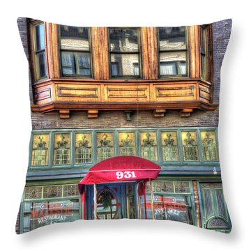 The Majestic Restaurant Throw Pillow by Liane Wright
