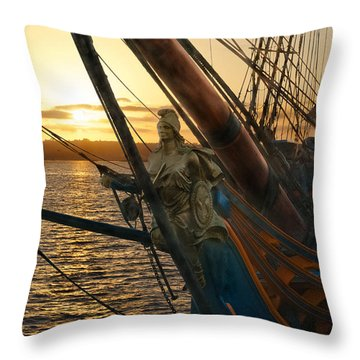 The Majesty Of The Ocean Throw Pillow by Claudia Ellis