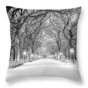 The Mall Throw Pillow by Mihai Andritoiu