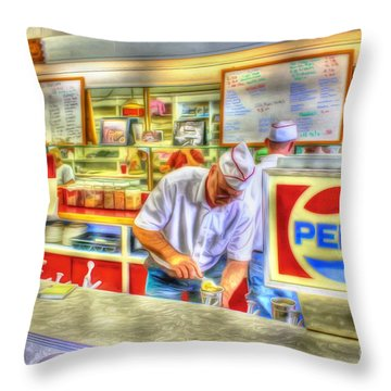 The Malt Shoppe Throw Pillow