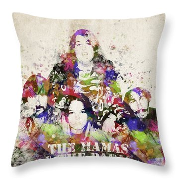 The Mamas And The Papas Throw Pillow by Aged Pixel