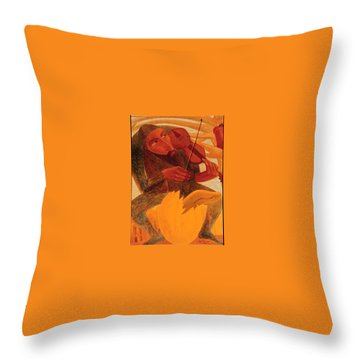 The Man And Mouse Throw Pillow