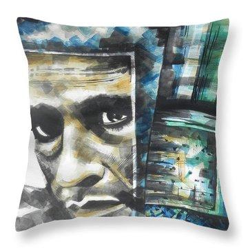 The Man In Black  Singer Johnny Cash Throw Pillow by Chrisann Ellis