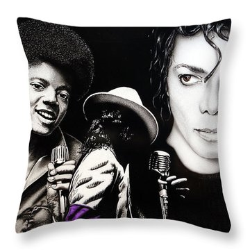 Throw Pillow featuring the painting The Man In The Mirror by Dan Menta