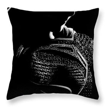 The Man Of Steel Throw Pillow by Kayleigh Semeniuk