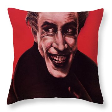 The Man Who Laughs Throw Pillow