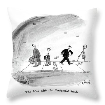 The Man With The Purposeful Stride Throw Pillow