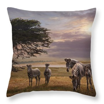 The Mane Event Throw Pillow