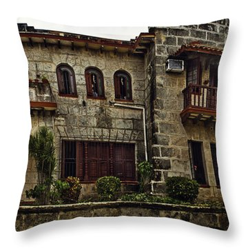 The Manor Throw Pillow by Audrey Wilkie