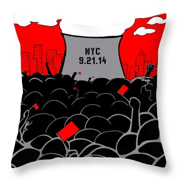 The March Throw Pillow
