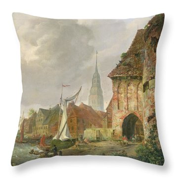 The March Gate In Buxtehude Throw Pillow