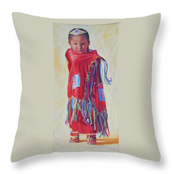 The March Of Red Butterfly Throw Pillow