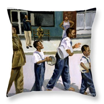 The Marching Band Throw Pillow by Colin Bootman