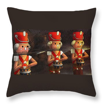 The March Of The Wooden Soldiers Throw Pillow