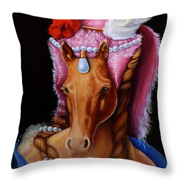 The Mare As Queen Throw Pillow