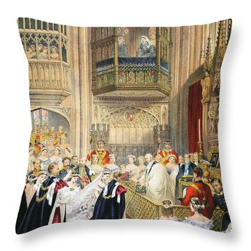 The Marriage At St Georges Chapel Throw Pillow by English School