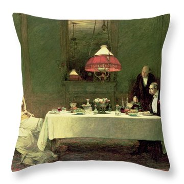 The Marriage Of Convenience, 1883 Throw Pillow by Sir William Quiller Orchardson