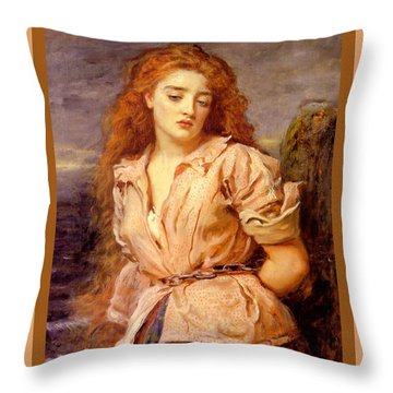 The Martyr Of The Solway Poster Throw Pillow by John Everett Millais