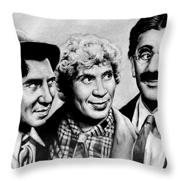 The Marx Brothers Throw Pillow by Andrew Read