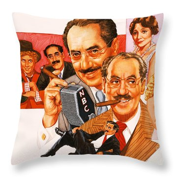 The Marx Brothers Throw Pillow