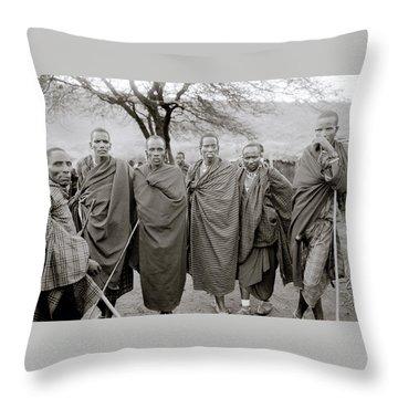 The Masai Throw Pillow by Shaun Higson